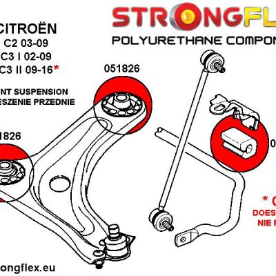 051301A: Front anti roll bar mounting SPORT 18mm