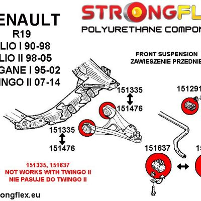 151637A: Front anti roll bar outer bush SPORT 22mm