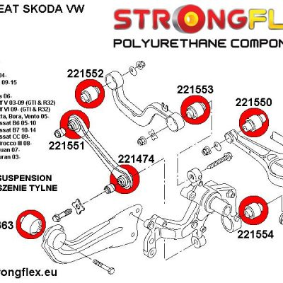 221663A: Rear tie bar to chassis front bush SPORT