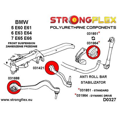 031421A: Front inner track control arm bush SPORT